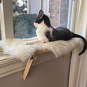 Зоотовары handmade. Livemaster - original item Cat bed made of fur. Handmade.