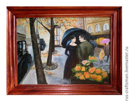 """Репродукции ручной работы. Ярмарка Мастеров - ручная работа. Купить Картина """"Осень в Париже"""". Handmade. Картина маслом, картина для интерьера"""