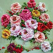 Картины и панно ручной работы. Ярмарка Мастеров - ручная работа Букет с розами. Handmade.