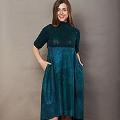 Одежда handmade. Livemaster - original item Felted dress Emerald. Handmade.