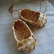 Русский стиль ручной работы. Ярмарка Мастеров - ручная работа лапти из бересты. Handmade.