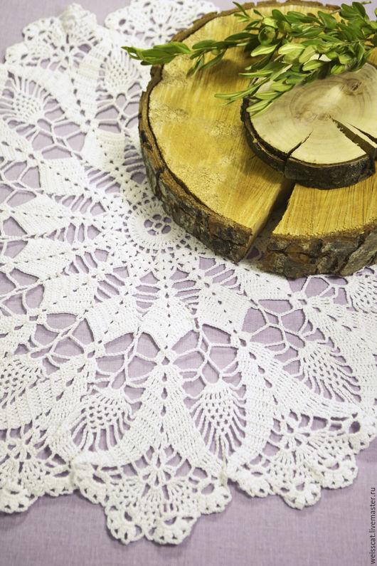 Текстиль, ковры ручной работы. Ярмарка Мастеров - ручная работа. Купить Вязаная кружевная салфетка. Handmade. Белый, салфетка кружевная