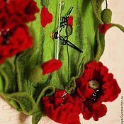 """Для дома и интерьера ручной работы. Ярмарка Мастеров - ручная работа Часы """"Маковое поле"""". Handmade."""