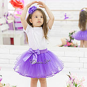 Одежда детская handmade. Livemaster - original item Tulle skirt with elastic waist. Handmade.
