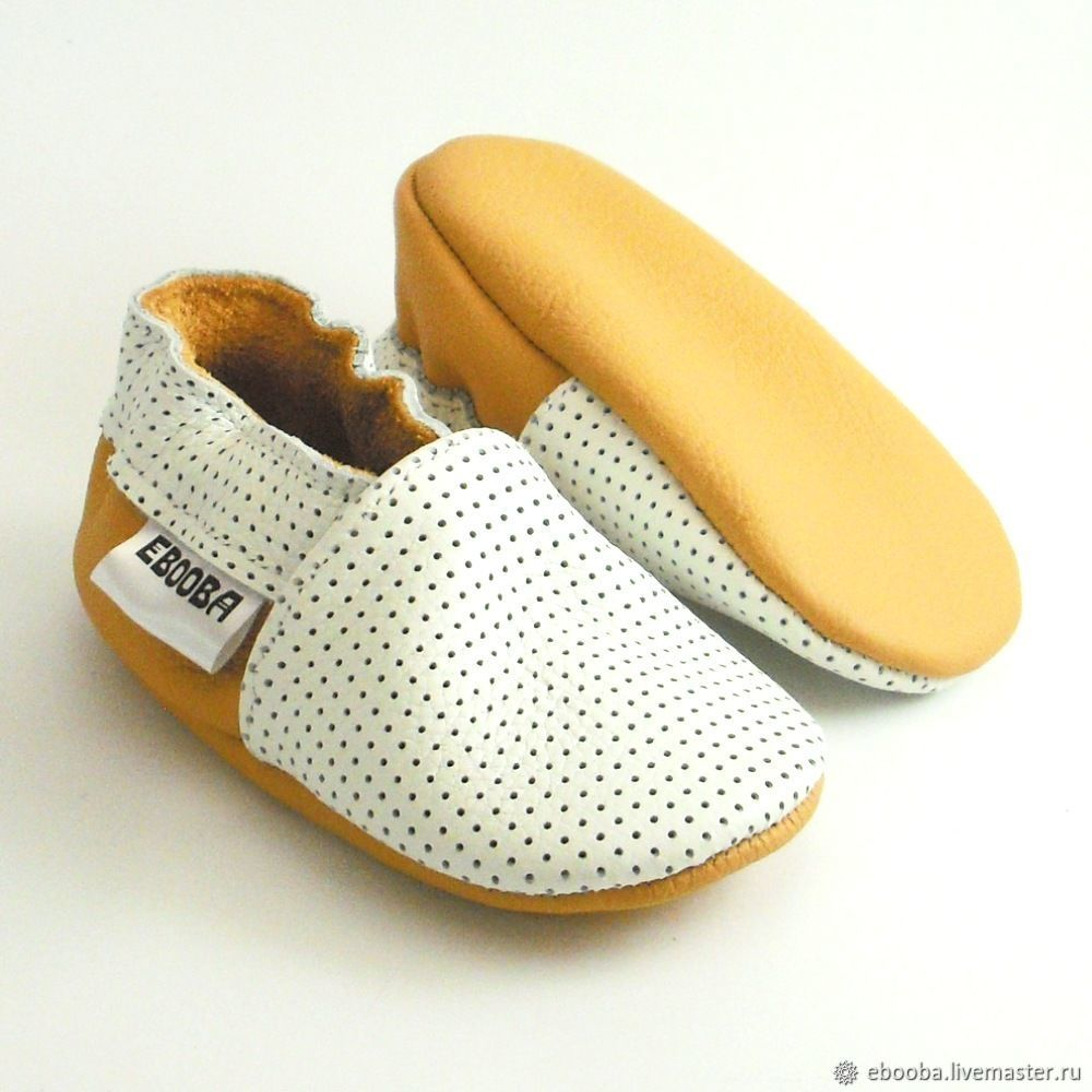 a120e5785 White soft sole leather Baby shoes,Infant handmade white yellow shoes ...