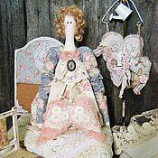 Куклы и игрушки ручной работы. Ярмарка Мастеров - ручная работа Кукла в стиле тильда Флорет с крылышками Ангела. Handmade.