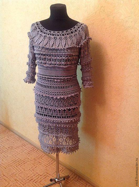 """Платья ручной работы. Ярмарка Мастеров - ручная работа. Купить Платье """"Серая дымка"""". Handmade. Серый, платье ажурное"""