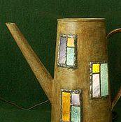 Цветы и флористика ручной работы. Ярмарка Мастеров - ручная работа светильник из лейки. Handmade.