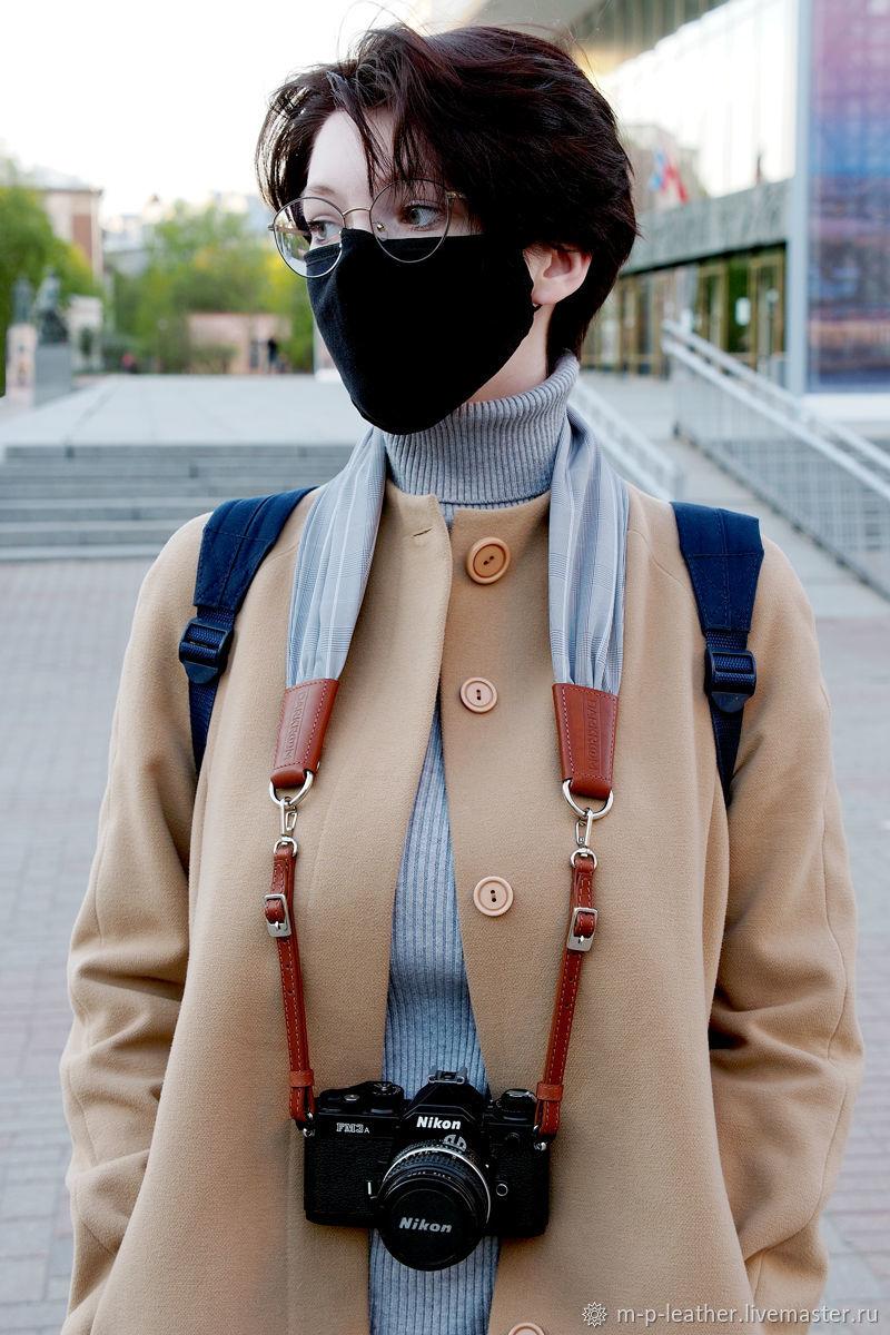 Ремень для фотоаппарата со сменными шарфиками. Комплект из 3 штук, Ремни, Санкт-Петербург,  Фото №1