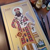 Картины и панно handmade. Livemaster - original item Dimensional icon. SV. Tikhon Of Zadonsk. Handmade.