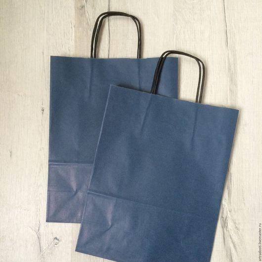 Упаковка ручной работы. Ярмарка Мастеров - ручная работа. Купить Крафт-пакет 24х31х11см (темно-синий). Handmade. Пакет