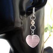 handmade. Livemaster - original item Cat`s Eye Heart Earrings. Handmade.