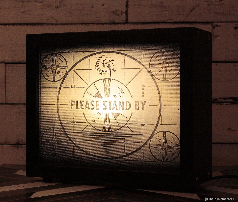 Luminaria / Caja de luz de madera Please Stand By (Fallout), Nightlights, Seversk,  Фото №1