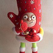Куклы и игрушки ручной работы. Ярмарка Мастеров - ручная работа Варежка деда Мороза.. Handmade.