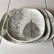 Посуда ручной работы. Ярмарка Мастеров - ручная работа Набор исписанных тарелок. Handmade.