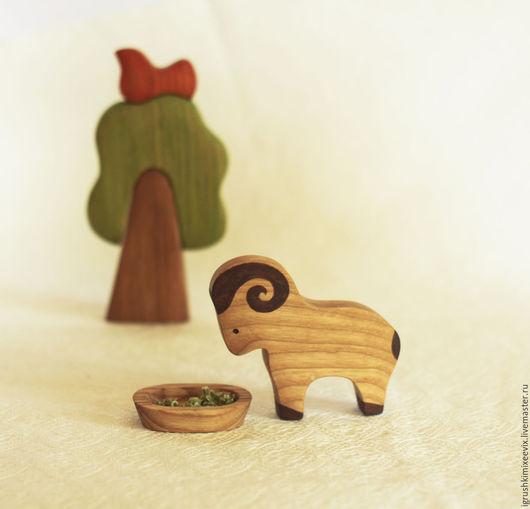 Игрушки животные, ручной работы. Ярмарка Мастеров - ручная работа. Купить Баран, развивающая деревянная игрушка. Handmade. Деревянная игрушка