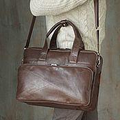 Сумки и аксессуары handmade. Livemaster - original item Men`s business leather laptop bag and A4