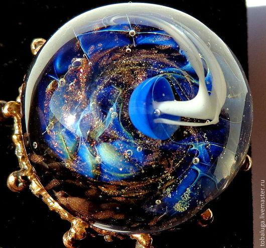 Кольца ручной работы. Ярмарка Мастеров - ручная работа. Купить Кольцо Медуза в синем. Handmade. Кольцо ручной работы, медуза