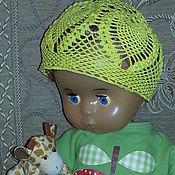 Работы для детей, ручной работы. Ярмарка Мастеров - ручная работа Ажурная летняя вязаная  детская шапочка , крючок. Handmade.