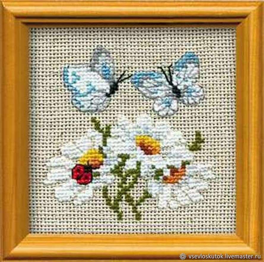 Наборы для вышивания крестиком с цветами, Наборы для вышивания, Санкт-Петербург,  Фото №1