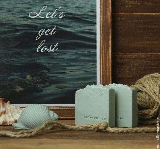 """Мыло ручной работы. Ярмарка Мастеров - ручная работа. Купить Мыло с нуля """"Морское путешествие"""". Handmade. Мятный, отпуск"""