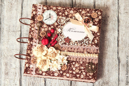 """Фотоальбомы ручной работы. Ярмарка Мастеров - ручная работа. Купить Фотоальбом """"Шоколад"""" (семейный, подарок женщине). Handmade. Фотоальбом, коричневый"""