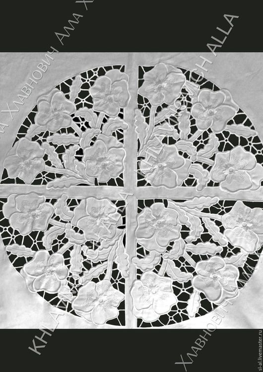 """Текстиль, ковры ручной работы. Ярмарка Мастеров - ручная работа. Купить Скатерть """"Ришелье"""" Модель №151-В. Handmade. Белый"""
