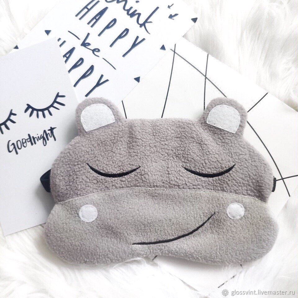 Sleep mask 'hippopotamus', Sleep masks, Vladivostok,  Фото №1