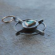 Украшения handmade. Livemaster - original item Double-sided pendant with tourmaline and beryl, silver, Goldfield and bronze. Handmade.