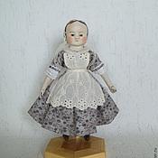 Куклы и игрушки ручной работы. Ярмарка Мастеров - ручная работа Мини-кукла в стиле Izannah Walker. Тина. Handmade.