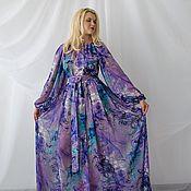 Одежда ручной работы. Ярмарка Мастеров - ручная работа Длинное платье из шифона. Handmade.