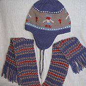 """Работы для детей, ручной работы. Ярмарка Мастеров - ручная работа Комплект детский """"Чешские мотивы"""": шапочка+шарфик. Handmade."""