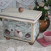 """Для дома и интерьера ручной работы. Ярмарка Мастеров - ручная работа Короба """"Чайники и розы"""". Handmade."""