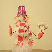 Подарки к праздникам ручной работы. Ярмарка Мастеров - ручная работа Романтичный снеговик. Handmade.