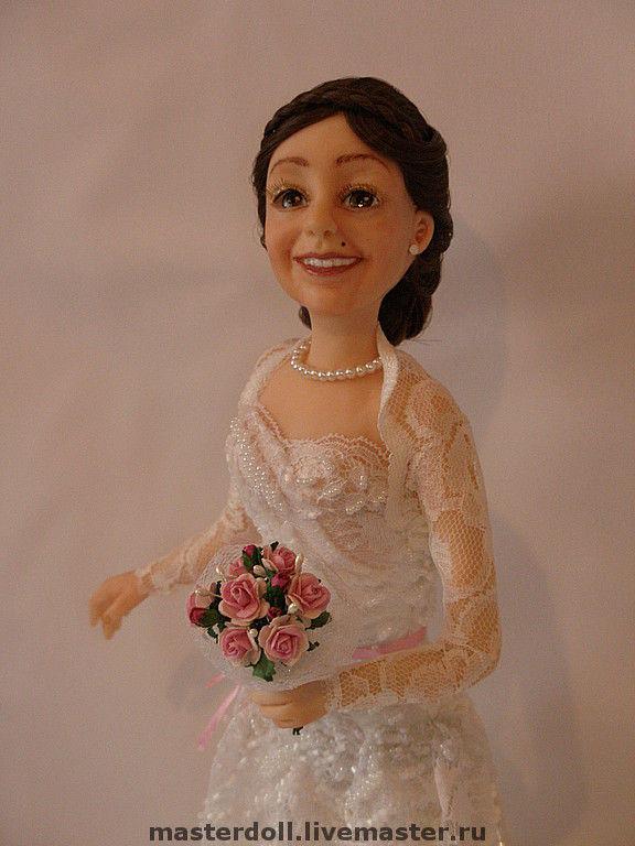 Авторская Портретная Кукла Невеста из полимерной глины, Портретная кукла, Москва,  Фото №1