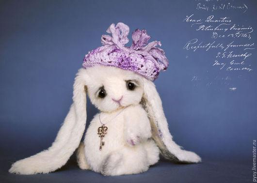 Мишки Тедди ручной работы. Ярмарка Мастеров - ручная работа. Купить зайка Грейс. Handmade. Белый, зайка, белый кролик