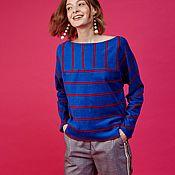 Пуловеры ручной работы. Ярмарка Мастеров - ручная работа Двусторонний пуловер с геометрическим рисунком. Handmade.