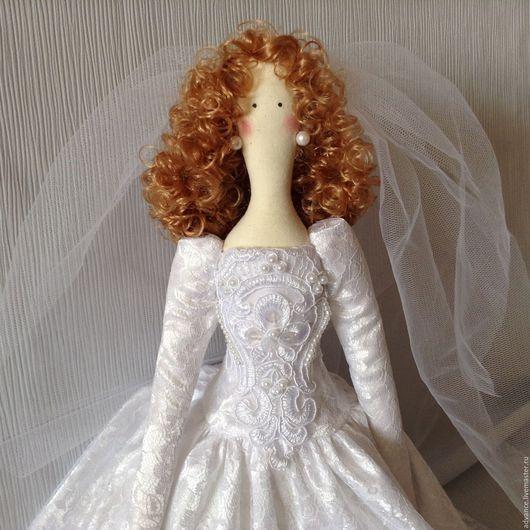 Куклы Тильды ручной работы. Ярмарка Мастеров - ручная работа. Купить Изысканная невеста. Handmade. Белый, свадебный подарок, кружево