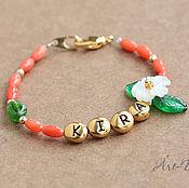 Украшения ручной работы. Ярмарка Мастеров - ручная работа Детский именной браслет для девочки. Handmade.