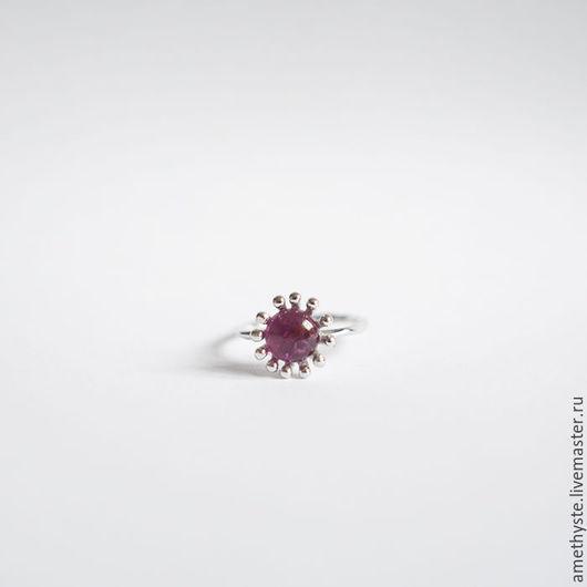 """Кольца ручной работы. Ярмарка Мастеров - ручная работа. Купить Кольцо """"Цветение"""" с турмалином ПРОДАНО. Handmade. Розовый, кольцо с камнем"""
