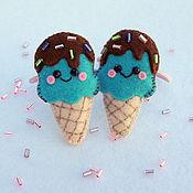 Работы для детей, ручной работы. Ярмарка Мастеров - ручная работа Резинки для волос Бирюзовое мороженое. Handmade.