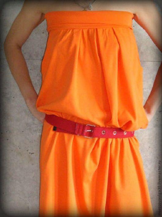 Юбка- платье трансформер из мягкого хлопкового трикотажа, которая легко превращается в сарафан-бандо