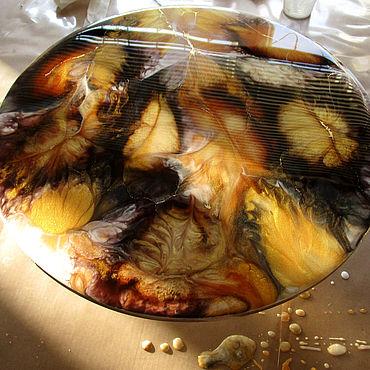 Для дома и интерьера ручной работы. Ярмарка Мастеров - ручная работа Картина 30 см в технике ART RESIN Элементы интерьера:. Handmade.
