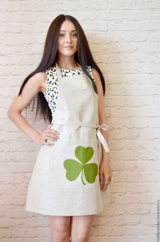 Кухня ручной работы. Ярмарка Мастеров - ручная работа. Купить Фартук льняной в Ирландском стиле. Handmade. Фартук, серый