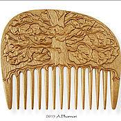 """Сувениры и подарки ручной работы. Ярмарка Мастеров - ручная работа Гребень для волос деревянный """"Old Oak"""". Handmade."""