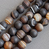 Бусины ручной работы. Ярмарка Мастеров - ручная работа Агат Ботсвана 8 10 12 мм матовый коричневый шар - бусины камни. Handmade.