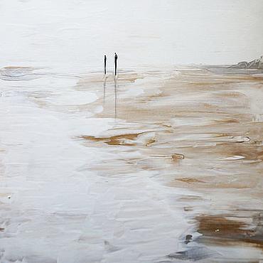 Картины и панно ручной работы. Ярмарка Мастеров - ручная работа Картина в стиле хюгге Северное море. Handmade.