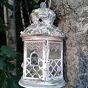 Для дома и интерьера handmade. Livemaster - original item lantern for tealight lodge