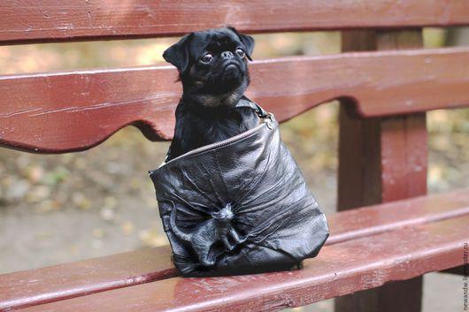 """Женские сумки ручной работы. Ярмарка Мастеров - ручная работа. Купить 3D Сумка """"Cat"""" из чёрной натуральной кожи. Handmade."""