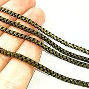 Chains handmade. Livemaster - original item Chain for jewelry 2,4х2,4 mm BRONZE (art. 2882 ). Handmade.